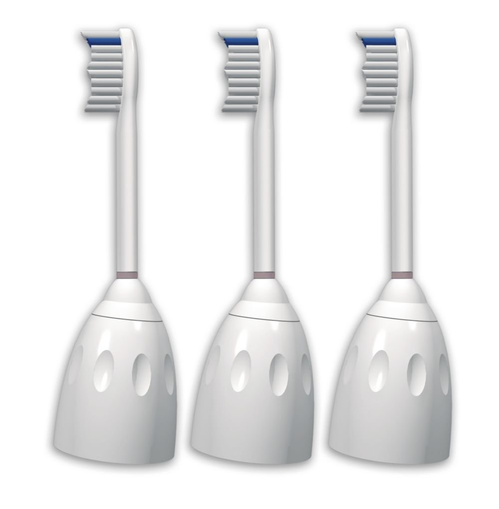 Philips Sonicare HX7003/82 e-Series Replacement Brush Heads, 3-Pack