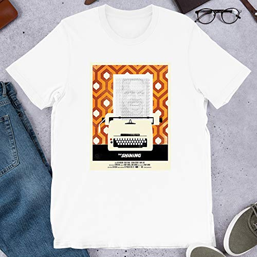 The Shining PhotoMovie Film Stanley Kubrick Jack Nicholson Graphic Gift for Men Women Girls Unisex T-Shirt (White-4XL)