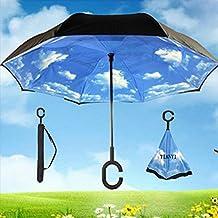 TIANYI Umbrella Sun Windproof Anti-UV Travel Protection Umbrella