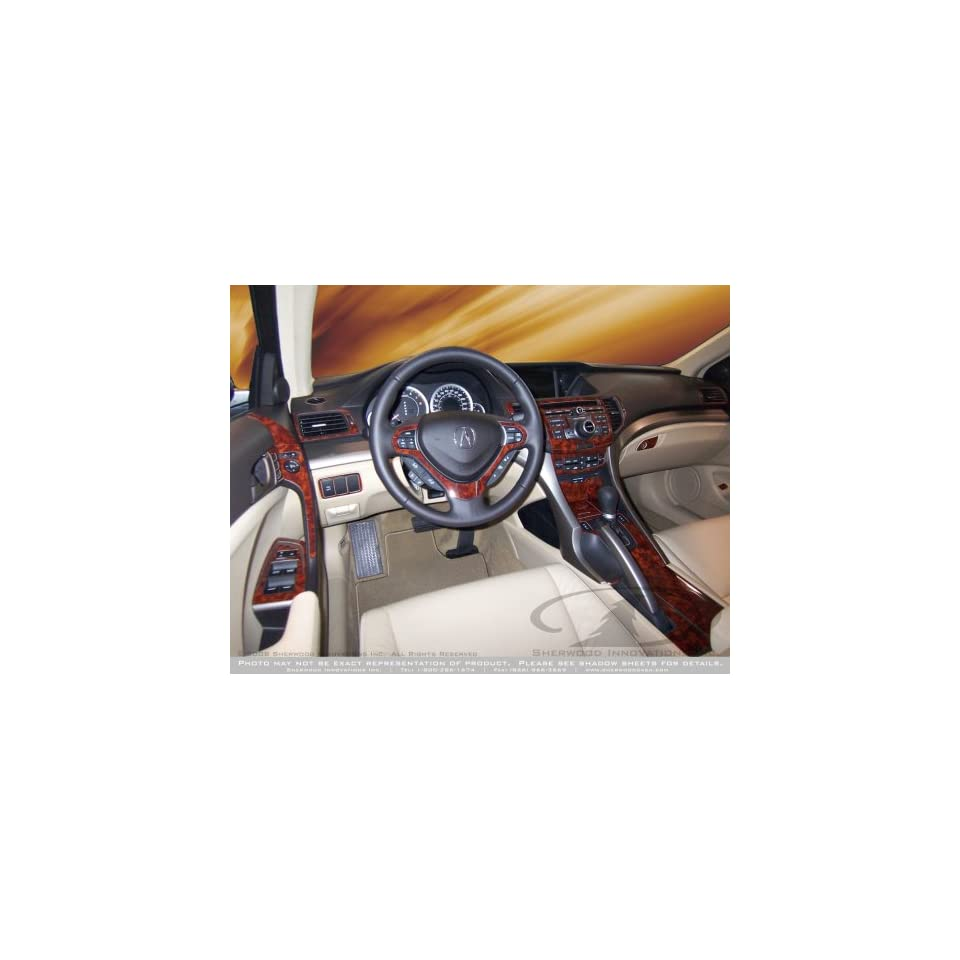 Interior Wood Dash Trim Kit for ACURA TSX w/NAVIGATION 2009 up Red