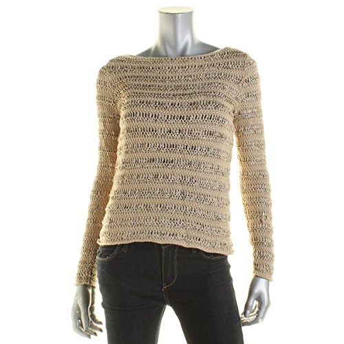 Lauren Ralph Lauren Women's Textured Knit Pullover Sweater, Berkshire (Tan), Petite ()