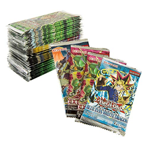 Yu-Gi-Oh! Cards: Game 50 Pack Bundle - Includes 1 Blue Eyes White Dragon Booster Pack & 2 Extreme Force Booster Pack | All Factory Sealed | Remaining 47 Pack are Listed in The Last 5 Bullets