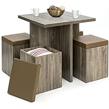 Amazon Com Best Choice Products 5 Piece Wood Dining