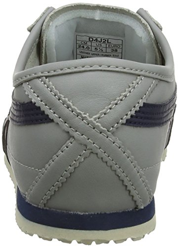 Asics Mexico 66 Sneakers, Scarpe da Ginnastica Basse Unisex-Adulto Multicolore (Light Grey/Navy 1350)