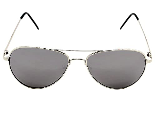 Image Unavailable. Image not available for. Color  Silver Mirror Aviator  Sunglasses 9b05ae84790