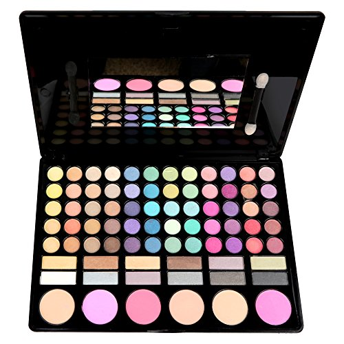 (Miracle Palette 78 Matte and Shimmer Colors of Eyeshadows, Highlighting Shades and)