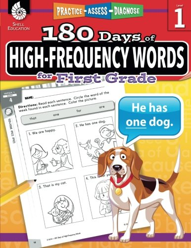 180 Days of High-Frequency Words for First Grade (180 Days of Practice) cover
