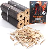 Instafire Fire-Logs - Firewood Logs - Instant Fire Kit - Safe, Efficient, Environmentally Friendly - 4 Pack