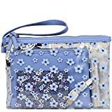 Wilsons Leather Womens Tech It Out 4In1 Fauxleather Wristlet Blue Floral Blue
