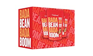 Enlightened Bada Bean Bada Boom Plant Protein Gluten Free Roasted Broad (Fava) Bean Snack, Sriracha, 4.5 oz. (Pack of 12)