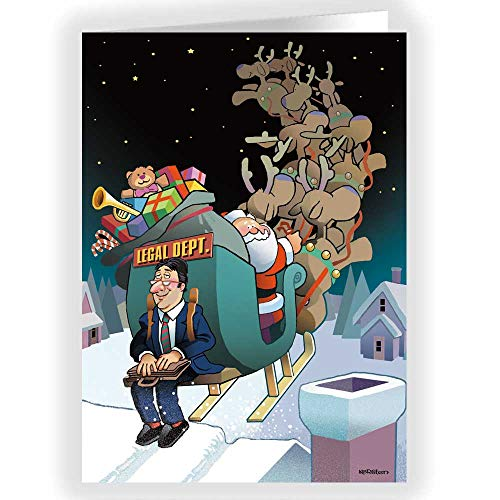 Attorney Greeting Cards - Lawyer Theme Christmas Card - 18 Attorney Cards & Envelopes