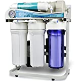 iSpring RCS5T 500 GPD Commercial Grade Tankless Reverse Osmosis Water Filter System w/ 1:1 Drain Ratio