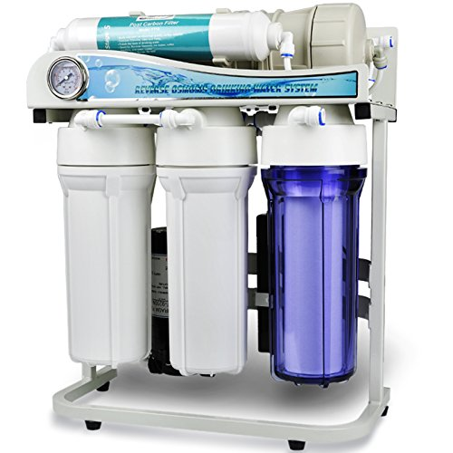 iSpring RCS5T 500 GPD Commercial Grade Tankless Reverse Osmosis Water Filter System w/ 1:1 Drain Ratio by iSpring