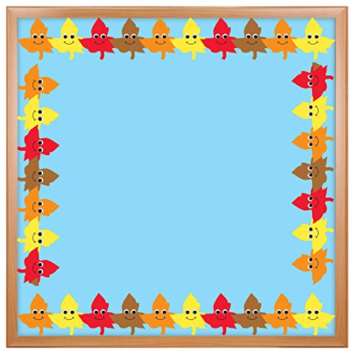 (Hygloss Products Happy Leaves Die-Cut Bulletin Board Border - Classroom Decoration - 3 x 36 Inch, 12 Pack)