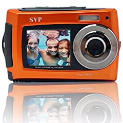 The SVP Aqua 5800 Waterproof Digital Camera features a dual color display with 4x digital zoom. The 1.8 inch front TFT color display is large enough to allow you to see yourself in the shot before taking the picture. 2.7 inch rear LCD display...