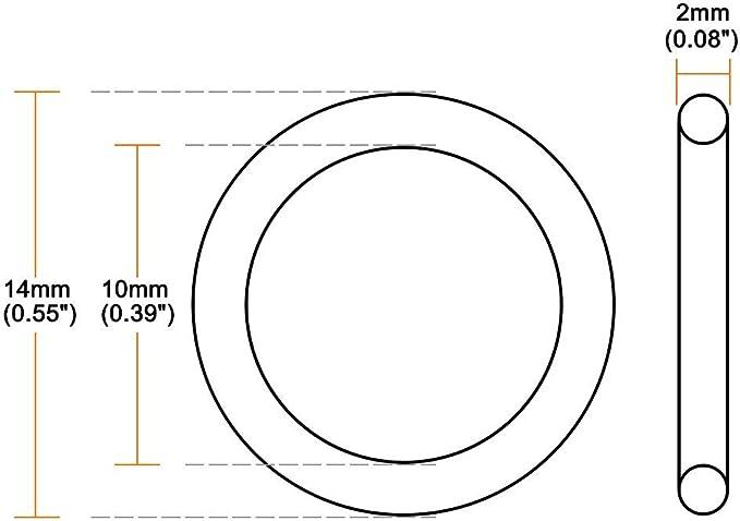 200 x/5,7/mm de Sourcingmap Dichtungsring aus Nitrilkautschuk