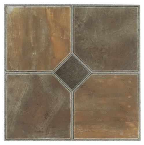 Achim Home Furnishings FTVGM32620 Nexus 12-Inch Vinyl Tile, Geo Rustic Slate, 20-Pack (Bathroom Tile Slate)