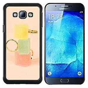 LECELL--Funda protectora / Cubierta / Piel For Samsung Galaxy A8 A8000 -- Marmalade Pastel Colores Moda --