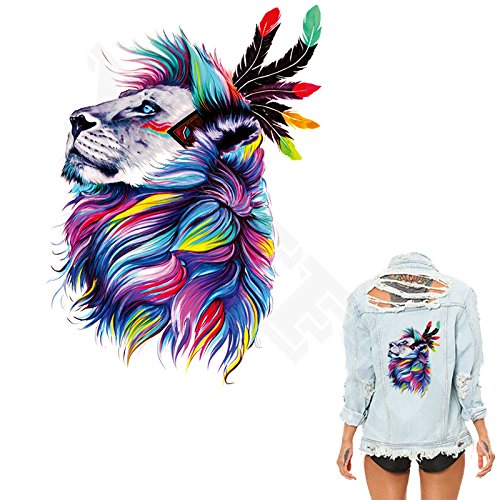 Patches Colorful Lions Clothing To Iron-on Patches A-level Heat Print On Jeans T-shirt Dresses Christmas Gift PerfectPrice