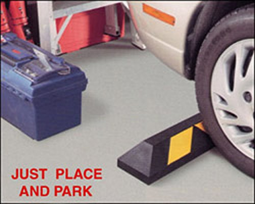 Rubber Parking Curb Wheel Stop Block for Car, RV, Trailer, Garage, Driveway or Parking Lot - 22 inches long by TLCTrafficSafety (Image #1)