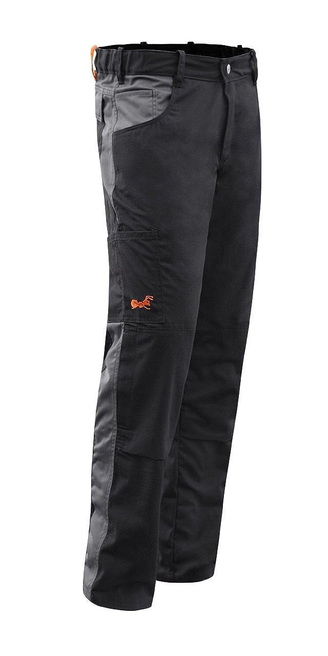 Pantalones de Trabajo Berlin Pro Hecho en Europa Negro bot/ón Metal YKK strongAnt/® easyClean Repelente de Suciedad F/ácil de Limpiar Cremallera YKK