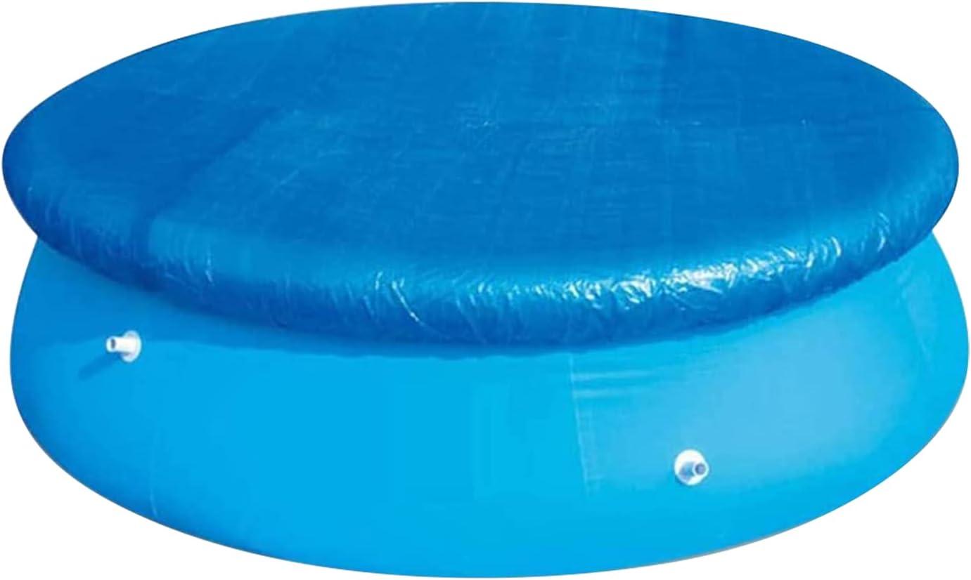 WingSin Cubierta para Piscina, 305 cm Cubierta Solar Redonda Impermeable de con Bridas, Protector de Piscina a Prueba de Polvo fácil de configurar para Piscinas inflables en el Suelo