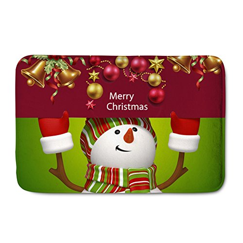 Showudesigns Washable Holidays Welcome Doormat Carpet for Christmas -