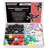 Hilitchi 178Pcs Chemistry Molecular Model Kit for Organic & Inorganic Chemistry Molecule Model Modeling Building Set (69 Atoms & 30 Orbitals & 78 Links & Short Link Remover Tool)