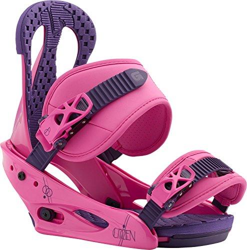 Womens Pink Snowboard - Burton Citizen Snowboard Bindings Pink Womens Sz L (8+)