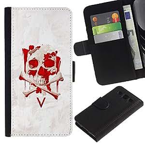 Stuss Case / Funda Carcasa PU de Cuero - V cráneo Vendetta - Samsung Galaxy S3 III I9300