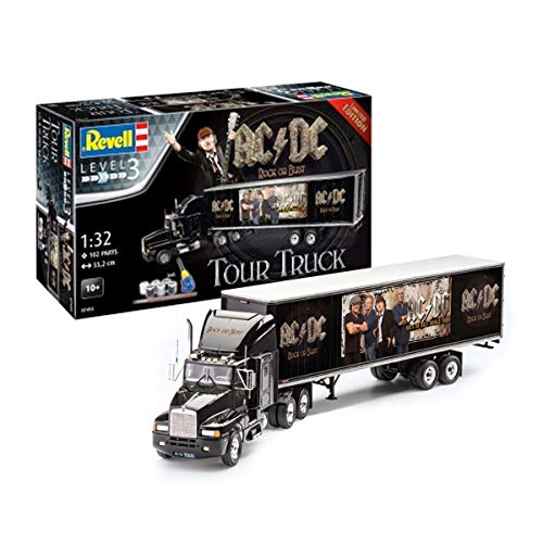 Revell AC/DC Level 3 Model Kit with Basic Accessories 1/32 Truck & Trailer 55 cm from Revell