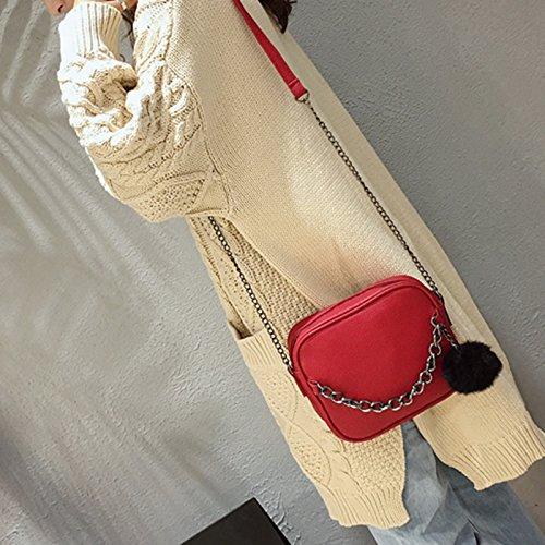 Bag Crossbody Mano Elaborazione Pelosa Di Donna Ouyou Catena Spalla A Mini Moda Dell'unità Blu Cuoio Messenger Sacchetto Palla vwnqgAn8