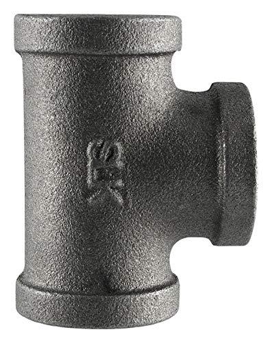 Muellar #520-607hc 1-1/2 Black Tee - Malleable Straight Tee