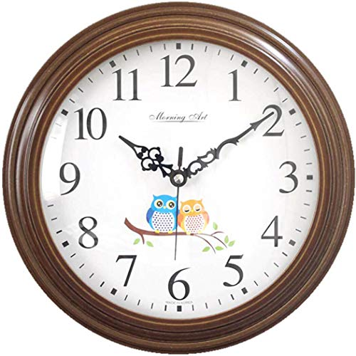 MorningArt Silent Analog Wall Clock, Non Ticking, Battery Operated, 10