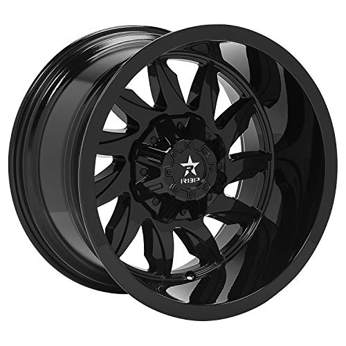 RBP Silencer Gloss Black Wheel with Painted Finish (20 x 12. inches /5 x 139 mm, -44 mm Offset)