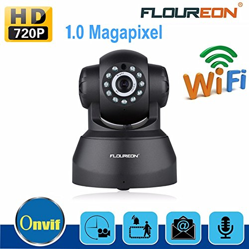 FLOUREON Wifi IP Camera 720P Network Infrared Wireless Cameras H.264 PT ONVIF Night Vision Motion Detection Security Cam