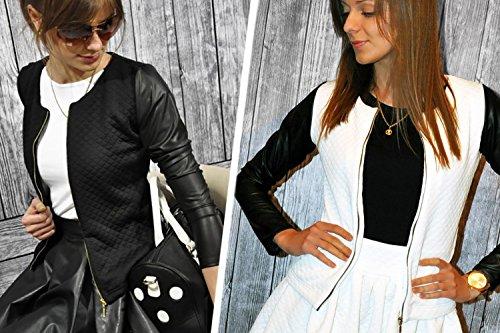 Femmes Vestes Femme 179 40 46 Blanc Casual 48 Veste 42 38 Blazer 44 Mikos 36 Tailleur Courte Chic wIgtwf