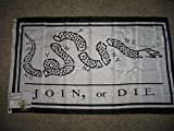Cheap 3X5 Benjamin Franklin Join Or Die Flag Heavy Duty Indoor Outdoor Nylon