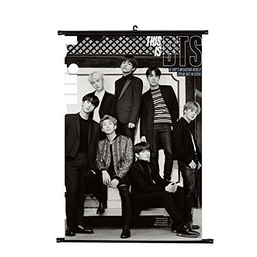 AhlsenL KPOP BTS Bangtan Boys Wall Scroll Cloth Poster Hangi