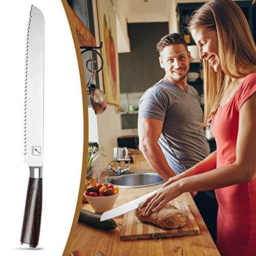 iMarku 10-Inch Pro Serrated Bread Cake Slicer Knife - Premium German Stainless Steel Bread Slicer by iMarku (Image #6)