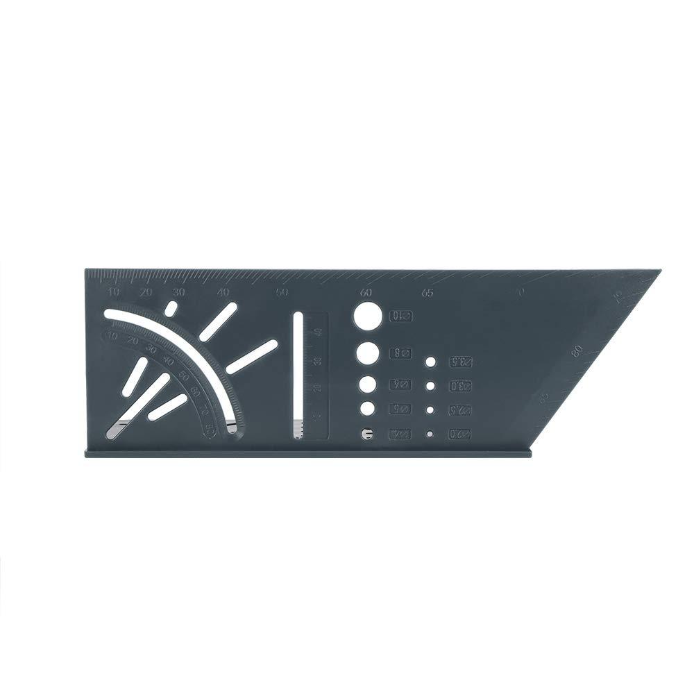 FreeLeben Plastique Bois R/ègle dangle 3D Mitre 3D Scriber de Mesure dangle Type dabonn/é /à Bois Multifonctionnel 90 Sovereign Degree Angle Carr/é Taille Gabarit de Gabarit Gris Fonc/é