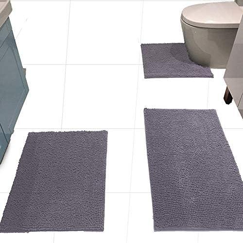 Amazon Com Madeals Bath Rug Set 3 Piece Bathroom Contour Rugs