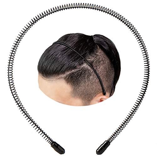 XINGZHE Black Metal Headband for Men