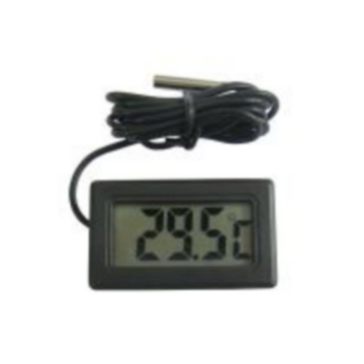 * * * termómetro digital pantalla LCD encastrable negro con sonda Waterproof * * * Ideal para disfrutar la temperatura del interior de frigorífico, congelador, surgélateur, Acuario, Terrario, salpicaderos de coche, piscina, Sauna.... Neuf Destockopromo