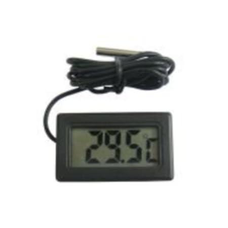 Termómetro Digital pantalla LCD encastrable negro con sonda ...