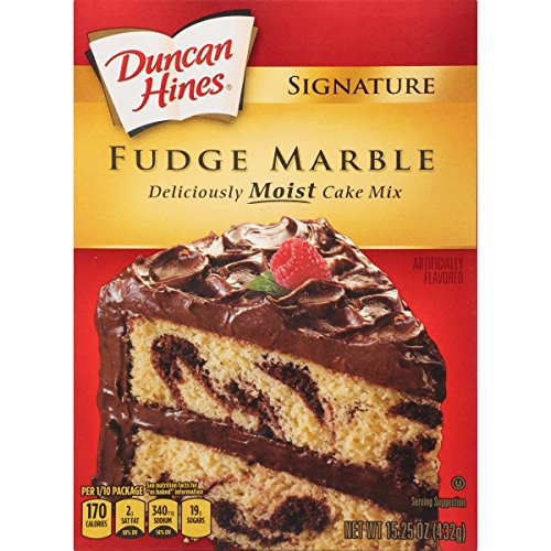 Duncan Hines Fudge - Duncan Hines Signature Cake Mix, Fudge Marble, 15.25 Ounce (Pack of 12)