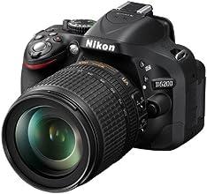 "Nikon D5200 - Cámara réflex digital de 24.1 Mp (pantalla 3"", vídeo Full HD), negro - Kit con objetivo AF-S DX 18-105mm VR"