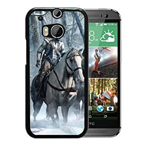 Fashion HTC ONE M8 Case,Video Game Assassin'S Creed Iii Black HTC ONE M8 Screen Phone Case Graceful and Beautiful Design