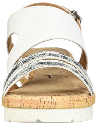 Tamaris Femme Eda 28205 Oxford Plat Blanc