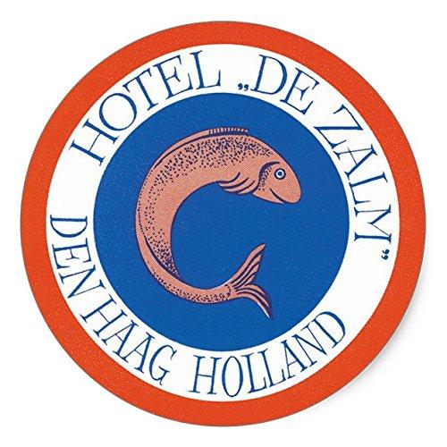 l De Zalm, Den Haag, Holland Classic Round Sticker - Sticker Graphic - Auto, Wall, Laptop, Cell, Truck Sticker for Windows, Cars, Trucks ()